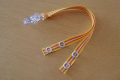 Cochlear Implant Ribbon Tether Double Strap by crookedtailcrafts