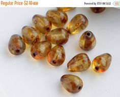 SALE 10% Antique Crystal Picasso Travertine by MoreBeads4U on Etsy