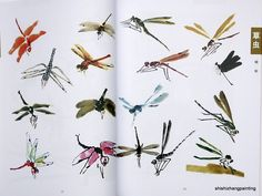 Chinese Painting Book Learn to Paint Insects New Art Birds Flowers Free Postage | eBay
