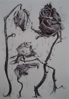 … rose wilted flower tattoo dead roses drawing dead flower drawing - All About Dead Rose Tattoo, Rose Tattoos, Flower Tattoos, Wilted Rose, Wilted Flowers, Flower Tattoo Drawings, Art Drawings, Pencil Tattoo, Rose Drawings