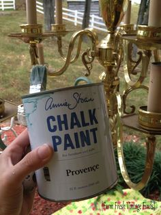 How to paint a brass chandy.