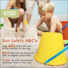 Learn your Sun Safety ABC's. #sunsafety #summersafety #beach