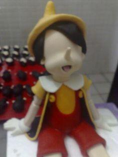 MC modeling Pinocchio, Jiminy Cricket-gumpaste (fondant) Pinocchio, Jiminy Cricket figure making tutorials - Master classes for decorating cakes ...