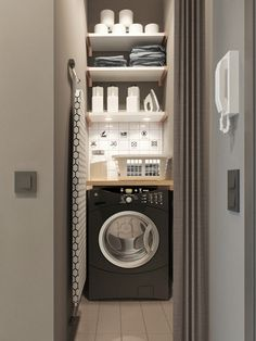 50 Cool Small Laundry Room Design Ideas December Leave a Comment Every family home needs a laundry room, but not all homes have enough space for one. But not all laundry rooms need a lot of space! A laundry just needs to be functional Tiny Laundry Rooms, Laundry Room Storage, Laundry Room Design, Laundry In Bathroom, Laundry Nook, Small Laundry Space, Small Utility Room, Ikea Laundry, Compact Laundry