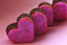 Pink Brownie Hearts