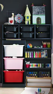 IKEA's TROFAST storage series makes it easy to sort, store and organize even the biggest toy collections featuring boxes, lids, wall storage and more. Ikea Storage, Wall Storage, Ikea Catalogue 2015, Ikea Kids Room, Romper Room, Bedroom Crafts, Ikea Home, Toy Rooms, Ikea Furniture