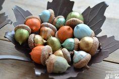 color you own acorns-a DIY project