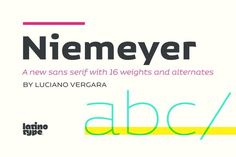 Niemeyer By LatinoType on YouWorkForThem.