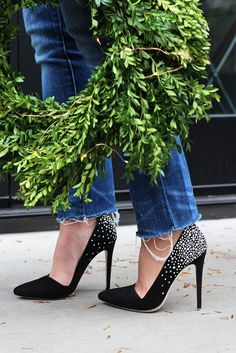DIY Crystal Confetti Party Shoes