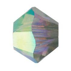 5328 3mm Crystal AB Satin Swarovski Elements Crystal Bicone   Fusion Beads