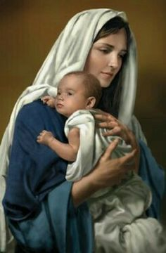 Pictures Of Jesus Christ, Religious Pictures, Religious Art, Mother Mary Images, Images Of Mary, Blessed Mother Mary, Blessed Virgin Mary, Jesus E Maria, Religion