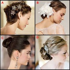 wedding hair, which one do you like?