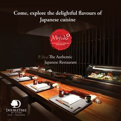 Visit Miyuki, our authentic Japanese restaurant to experience the intricate flavours of Japanese cuisine. Call 020 6731 3333 for reservations. #DoubleTreePune #HiltonPune #Miyuki #Japanese #Restaurant #Flavours