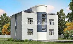 180-005-П Проект двухэтажного дома, уютный домик из блока
