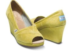 TOMS - Mustard Cord Wedges