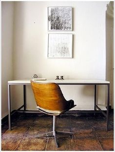 Home Office Space, Office Workspace, Desk Space, Small Office, Home Interior Design, Interior And Exterior, Cool Rooms, Interiores Design, Decoration