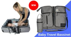 Enter to win a Baby Travel Bassinet. ARV $169! #Baby #sweepstakes #win