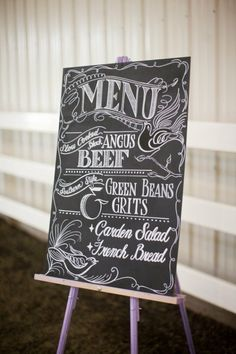 Like this idea instead of printing up a menu