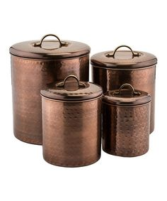 Love this Copper Canister - Set of Four on #zulily! #zulilyfinds. $51.99.  Wow!!!!!