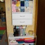 Craft Room Organization on a Yard Sale Budget