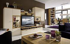 arte-m linea w wohnwand iv eiche dunkel/steingrau hg | interior, Hause deko