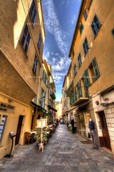 Alley in Villefranche, France