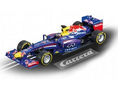 The Carrera Infiniti Red Bull Racing Sebastian Vettel No1, is a superbly detailed Carrera Evolution slot car for use on any 1/32 analogue slot car layout.