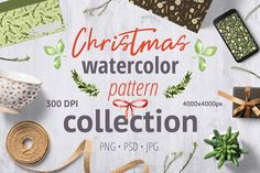 Christmas pattern collection on Creative Market. Digital design goods for personal or commercial projects. Graphic design elements and resources.