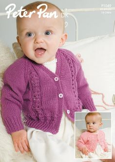 Cardigans in Peter Pan DK 50g - 1049. Discover more Patterns by Peter Pan at LoveKnitting. The world's largest range of knitting supplies - we stock patterns, yarn, needles and books from all of your favourite brands.