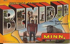 Greetings from Bemidji, Minnesota by mod as hell, via Flickr