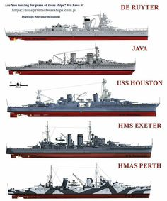 In memory of the great ships and their brave crews...lost in the Battle of Java Sea 1941.