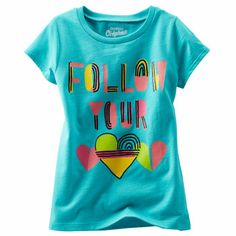 OshKosh Originals Graphic Tee. This tee reminds her to follow her heart with bright colors and sweet, sugar glitter accents.