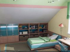 attic bedrooms with slanted walls - Google Search#imgrc=ZTAo7LFRk7VuOM%3A%3BXVu9GoRo05K2uM%3Bhttp%253A%252F%252Fwww.snuut.com%252Fimages%252F2012%252F02%252FAttic-Kids-Room-with-Sloped-Ceiling-and-Shelf.jpg%3Bhttp%253A%252F%252Fwww.snuut.com%252Fbeautiful-attic-kids-rooms-design%252Fattic-kids-room-with-sloped-ceiling-and-shelf%252F%3B600%3B450