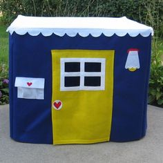 Card Table Playhouse Royal Blue Basic Bungalow by missprettypretty, $115.00