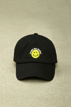 A woven dad cap by HatBeast™ featuring a front