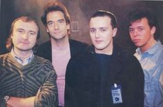 With Phil Collins and Huey Lewis in the 80's