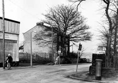 Town End House, Bramley, residence of Joseph and Anne Jones, David Bowie's great-grandparents. This photo was taken on the 22nd February 1983. View showing Back Lane from the junction with Stanningley Road. In the centre is Town End House, a Grade II listed building dating back to the late 18th century, which is numbered 9 Lower Town Street, as this was the junction with Back Lane on the right. On the left is a garage building.