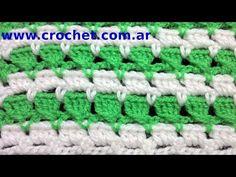 Punto Fantasía N° 14 en tejido crochet tutorial paso a paso. - YouTube
