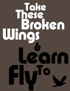 Printable Take These Broken Wings And Learn To by VisibleLyrics, The Beatles $.99