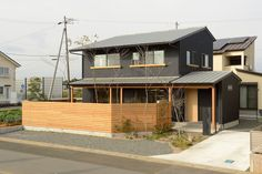 Concrete Houses, Modern Fence, Japanese House, Industrial House, Architecture, Building Design, Home Interior Design, House Design, Cabin