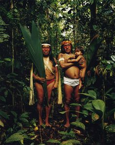 Indígenas Achuar de la Provincia de Morona Santiago, en la Amazonía ecuatoriana.