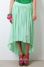 high low mint green skirt....LOVE IT!