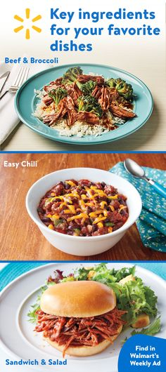 Check out Walmart's weekly ad to find the key ingredients for your favorite dishes. Easy everyday meals that are sure to please your family _find them all at your local Walmart.