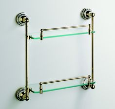 A0102-Double Layer Glass Shelf