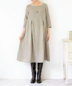 Linen Dresses, Modest Dresses, Sewing Clothes, Diy Clothes, Simple Tunic, Natural Clothing, Tunic Pattern, Androgynous Fashion, Boho Fashion