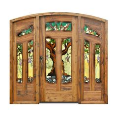 how wonderful!  stained glass doors