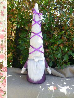 Shabby-chic gnome doorstop gnome wedding gnome Swedish