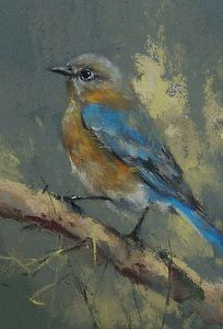 "Bluebird by Mike Beeman Pastel ~ 7"" x 5"""