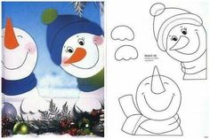 mária kľapová's media statistics and analytics Diy And Crafts, Christmas Crafts, Crafts For Kids, Paper Crafts, Christmas Ornaments, Christmas Window Decorations, Christmas Door, Winter Art, Coloring Pages