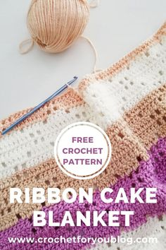 Ribbon Cake Crochet Blanket Free Pattern We think that tattooing can be quite a method that has … Crochet Throw Pattern, Filet Crochet, Baby Blanket Crochet, Crochet Baby, Knit Crochet, Crochet Blankets, Baby Blankets, Crochet Humor, Crochet Cushions